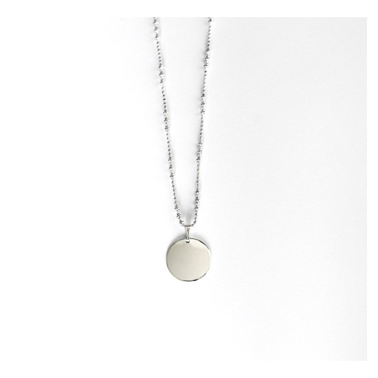SILVER NYMPHE MEDAL NECKLACE