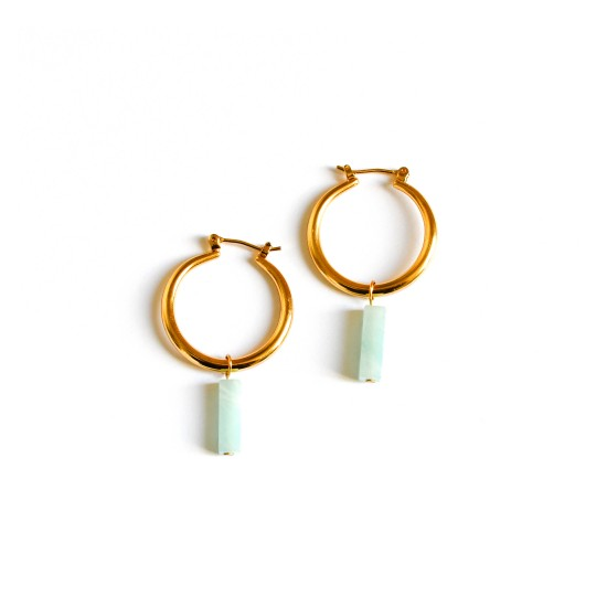 EARRINGS NOA AMAZONITE